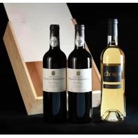 COLIS N°10 - Caisse en bois 3 bouteilles