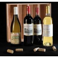 COLIS N°13 - Caisse bois 4 bouteilles